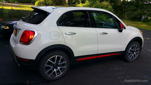 Fiat 500X with Mopar Body Side Moulding