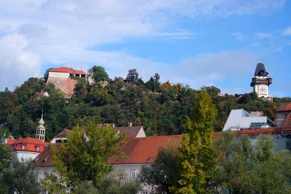 styrie graz schloßberg uhrturm