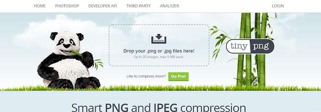 موقع tinyPNG لضغط الصور اونلاين
