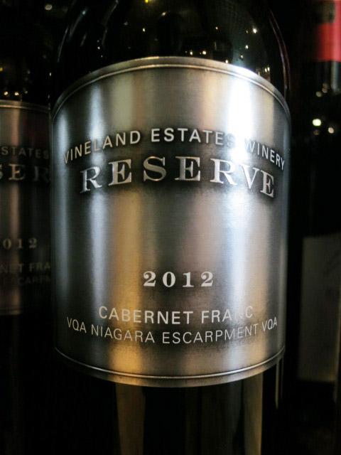 Vineland Estates Cabernet Franc Reserve 2012 (91+ pts)