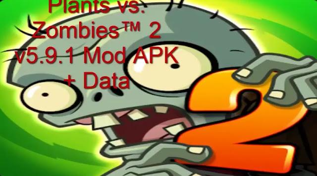PlantS vs Zombies 2 Mod Apk + Data Terbaru