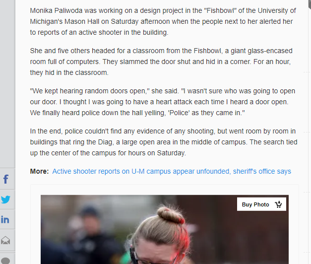 The Mindless Freaks: Michigan False Active Shooter and the