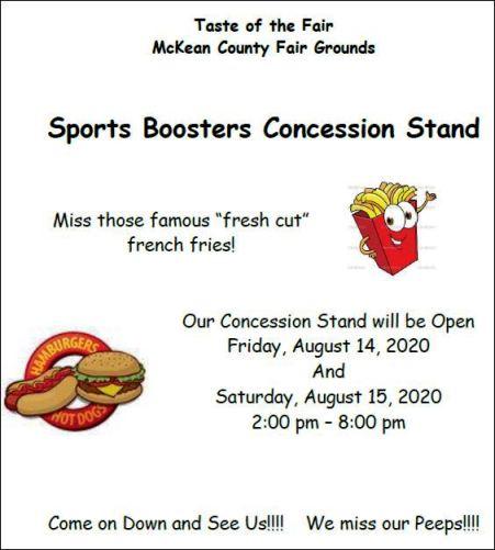 8-15 Taste of Fair, Smethport Fairgrounds