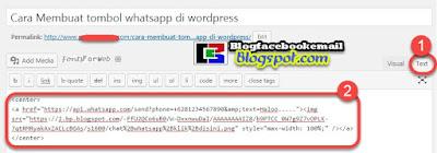 cara memasang tombol whatsapp di postingan wordpress