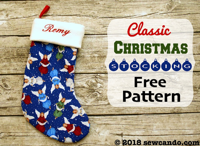Free pattern Christmas stocking