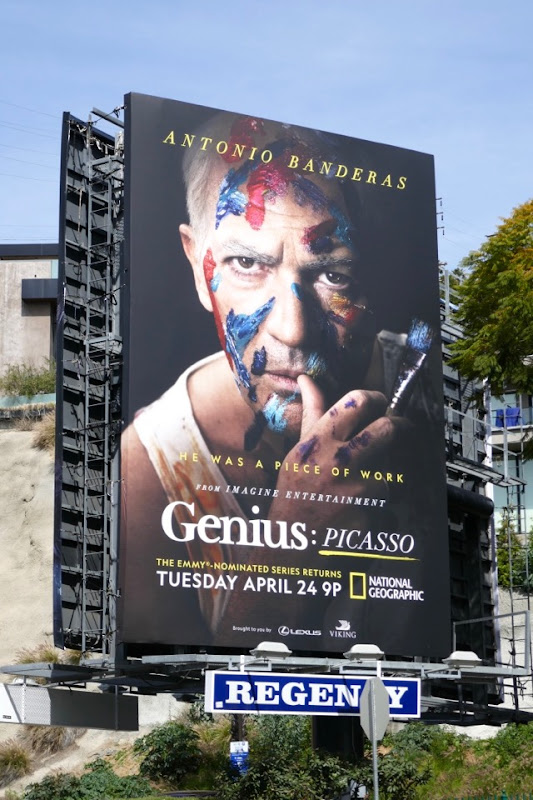 Genius Picasso series premiere billboard