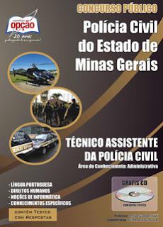 Apostila concurso Polícia Civil de Minas Gerais