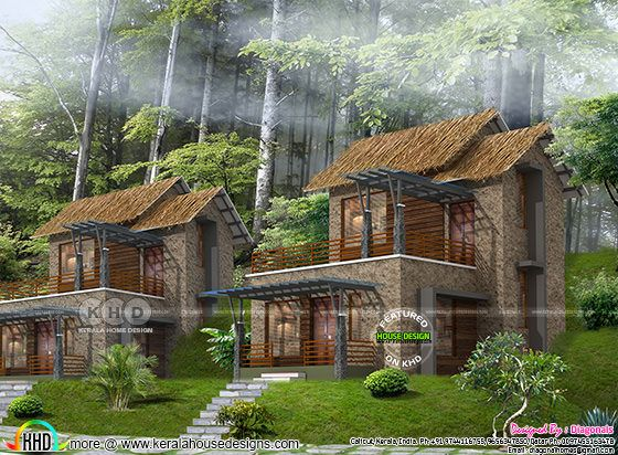 731 square feet, Resort home plan