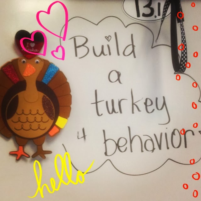 behavior management tips, build a turkey for behavior