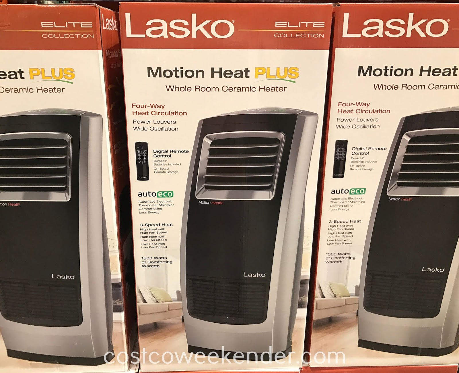 Feeling cold? Warm the room with the Lasko Whole Room Ceramic Heater and its all direction heat circulation