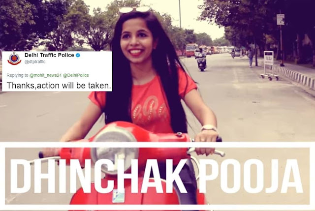 Dhinchak Pooja Delhi Traffic Police  Necessary Action