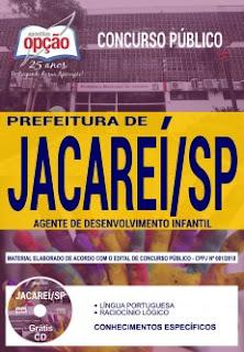 Apostila Concurso Jacareí 2018 PDF - Agente de Desenvolvimento Infantil