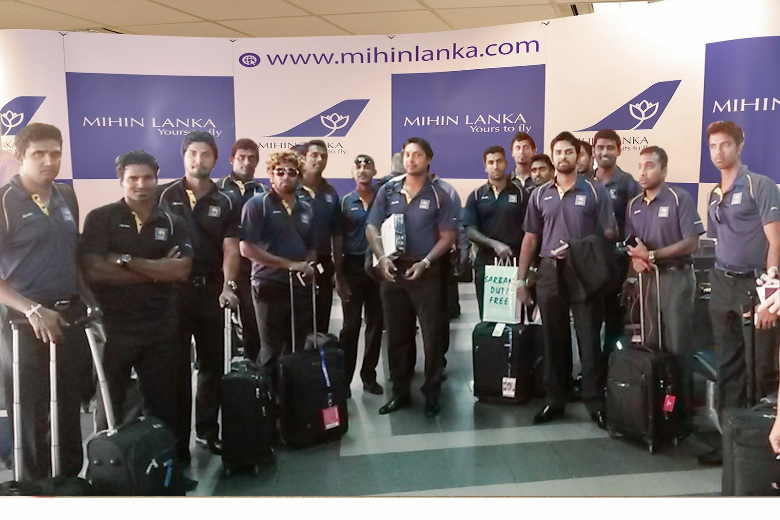 The Sri Lankan Cricket team, after winning the Asia Cup tournament, ready to fly back to Sri Lanka.