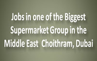 Jobs at Choithram Supermarket Dubai