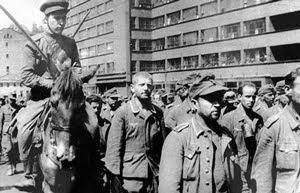 Пленные немцы в Москве 17 июля 1944 года