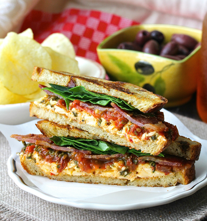 This BLT Sandwich with Roasted Pimento Cheese and Tomato Marmalade will make even the BLT purist happy.