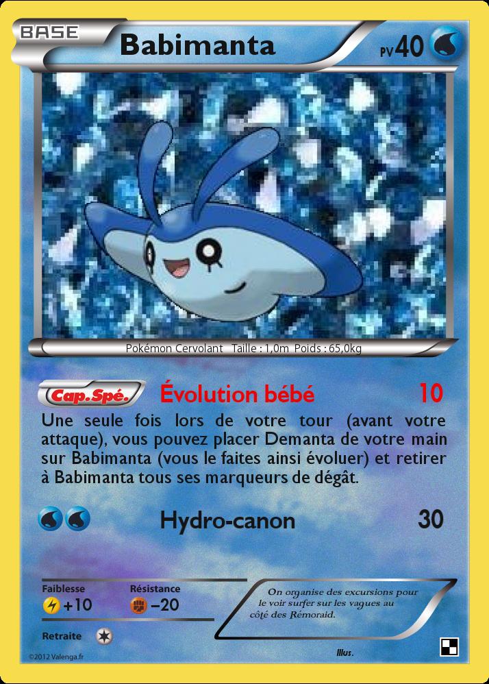 Pok 233 Card 4 Carte Pokemon Eau