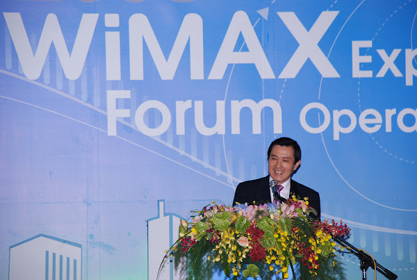 圖說:馬英九 2010 年在彼時已經注定失敗的 Wimax Expo Forum 發表演說,台北市電腦公會提供