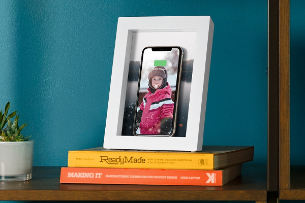 Twelve South's PowerPic is a wooden picture frame that wirelessly charges your Qi-enabled phone