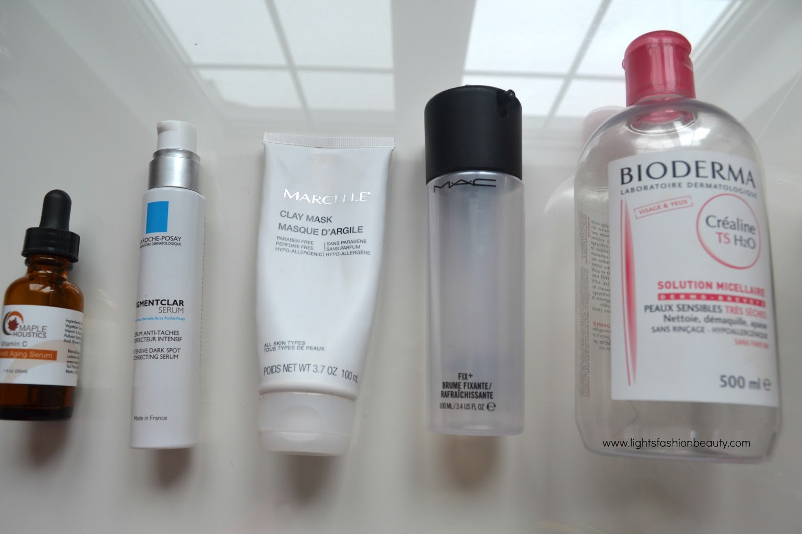 mac empties, bioderma micellar water, la roche posay pigmentclar serum, lightsfashionbeauty, beauty blogger, brown beauty blogger, montreal beauty blogger, hatian beauty blogger