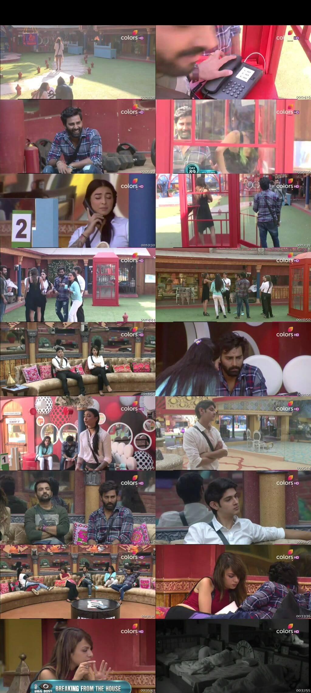 Screenshots Of Hindi Show Bigg Boss 10 13th January 2017 Episode 89 300MB 480P HD