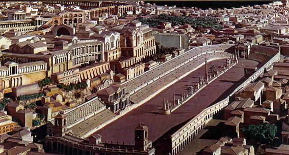 Reconstrucción del circo Máximo de Roma