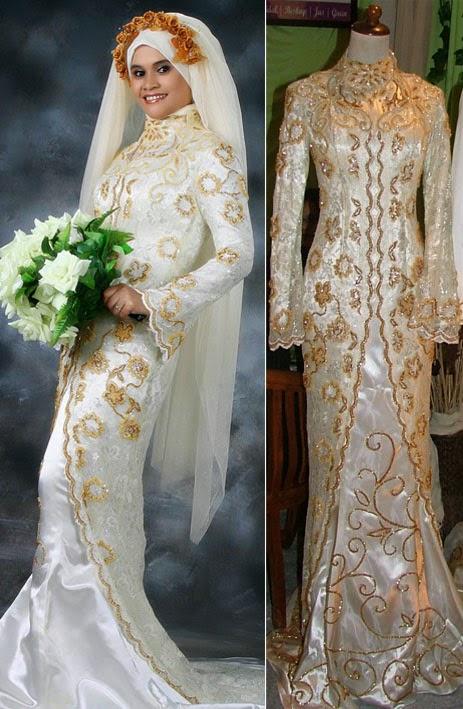 Model Gaun Pengantin Untuk Wedding Muslimah