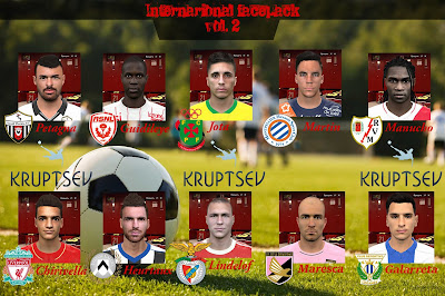 PES 2016 Internarional facepack vol. 2 by Kruptsev