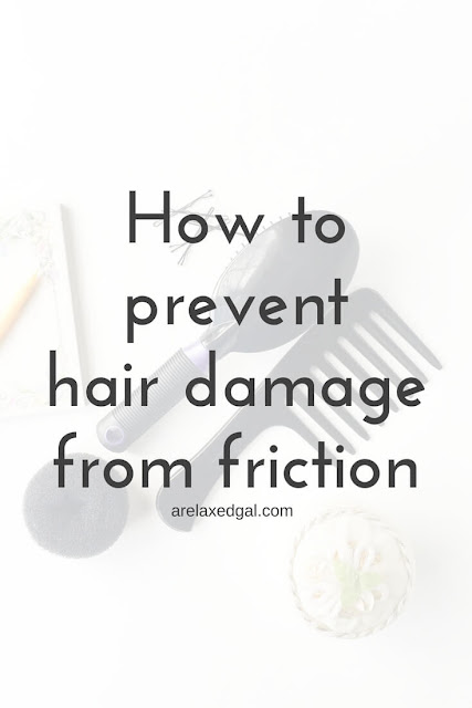 Friction from hair tools can hinder a healthy hair journey. See what can be done to prevent this type of hair damage. | arelaxedgal.com