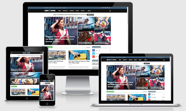 Themeplatinum - Newspaper 9 Blogger ver.
