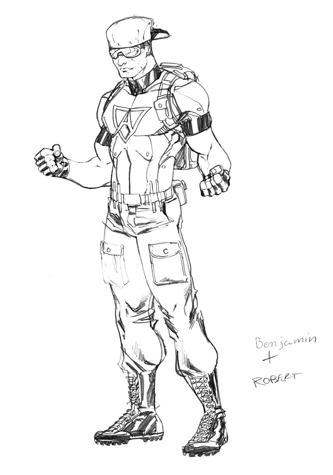 Robert Atkins Art Character Creation