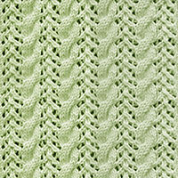 Arrow Lace and 3/3 Righ cable stitch | Knitting Stitch Patterns.