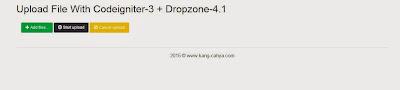 Upload File Atau Gambar Dengan DropzoneJS Dan Codeignite-3