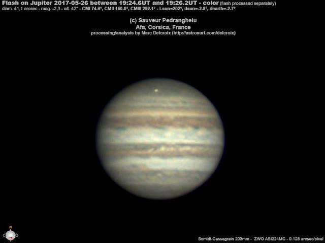 Júpiter foi atingido mais uma vez - maio de 2017 - Sauveur Pedranghelu - Marc Delcroix