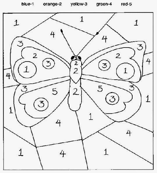 Color By Number Sheets   Free Coloring Sheet
