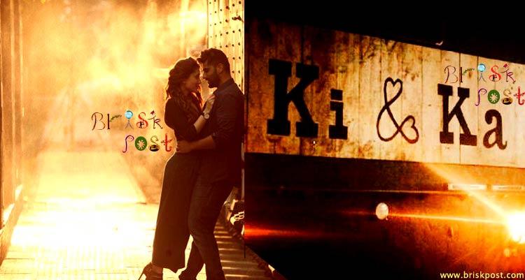 Ki And Ka Kareena Kapoor Khan and Arjun Kapoor in romantic pose as Kia and Kabir
