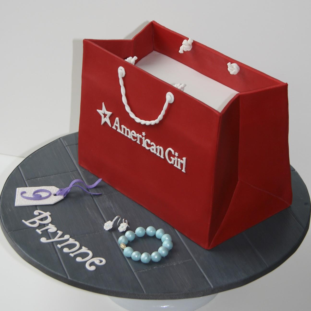Sweet Cake Design American Girl Shopping Bag Cake