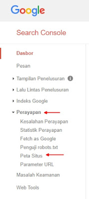Opsi Google Webmasters