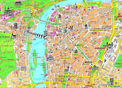 Mapa turístico de Praga