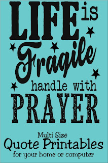 When your down on your knees due to life's struggles, remember to pray. This printable quote is available in many different sizes so you can print a reminder to keep you going through the storms of life.  #quoteprintable #wordsofwisdom #handlewithprayer #diypartymomblog