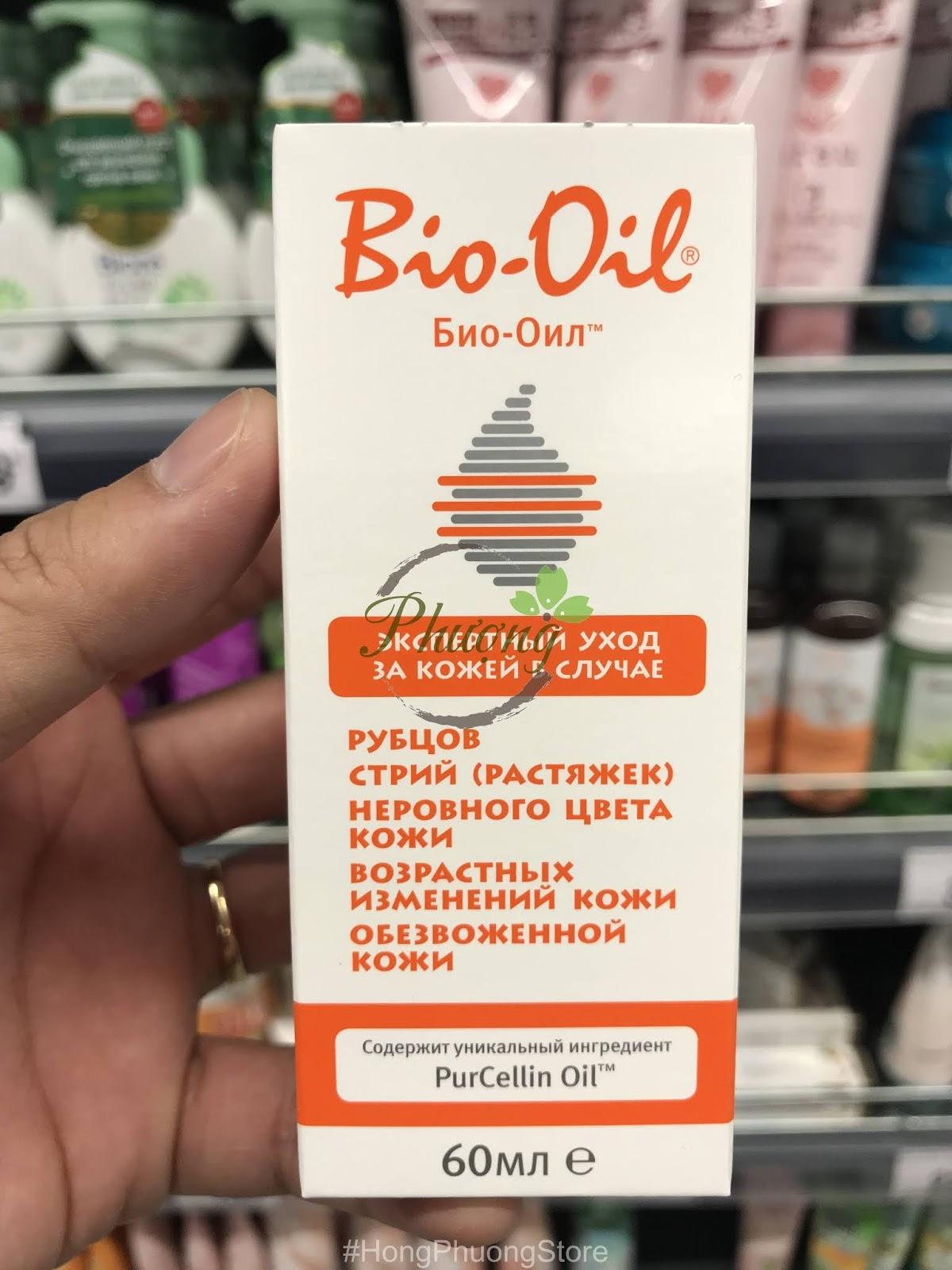 Tinh dầu Bio-Oil hàng Nga lọ 60ml với nhiều công dụng tuyệt vời cho sức khỏe