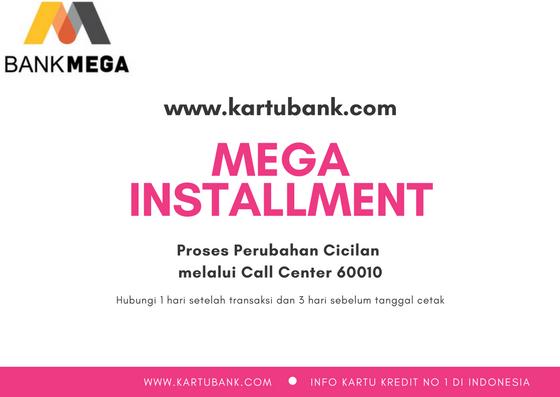 Gambar Ilustrasi cara ubah transaksi kartu kredit bank mega menjadi cicilan