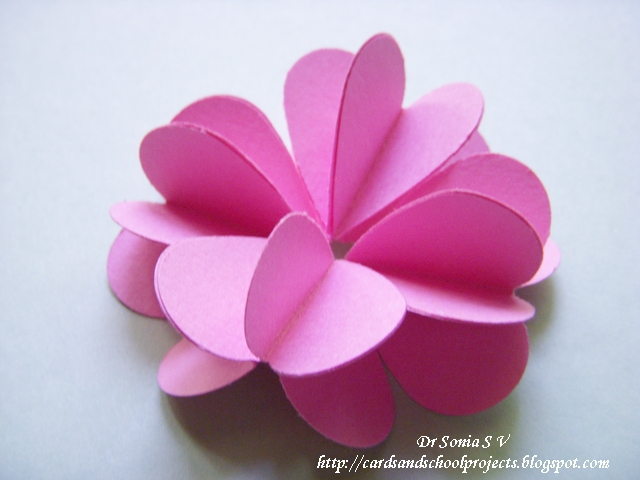heart flowers tutorial