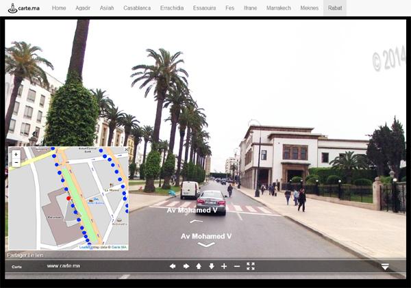 Street View de Rabat