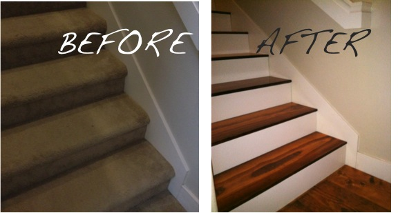 Newly Domestic Staircase Re Do From Carpet To Hardwoods