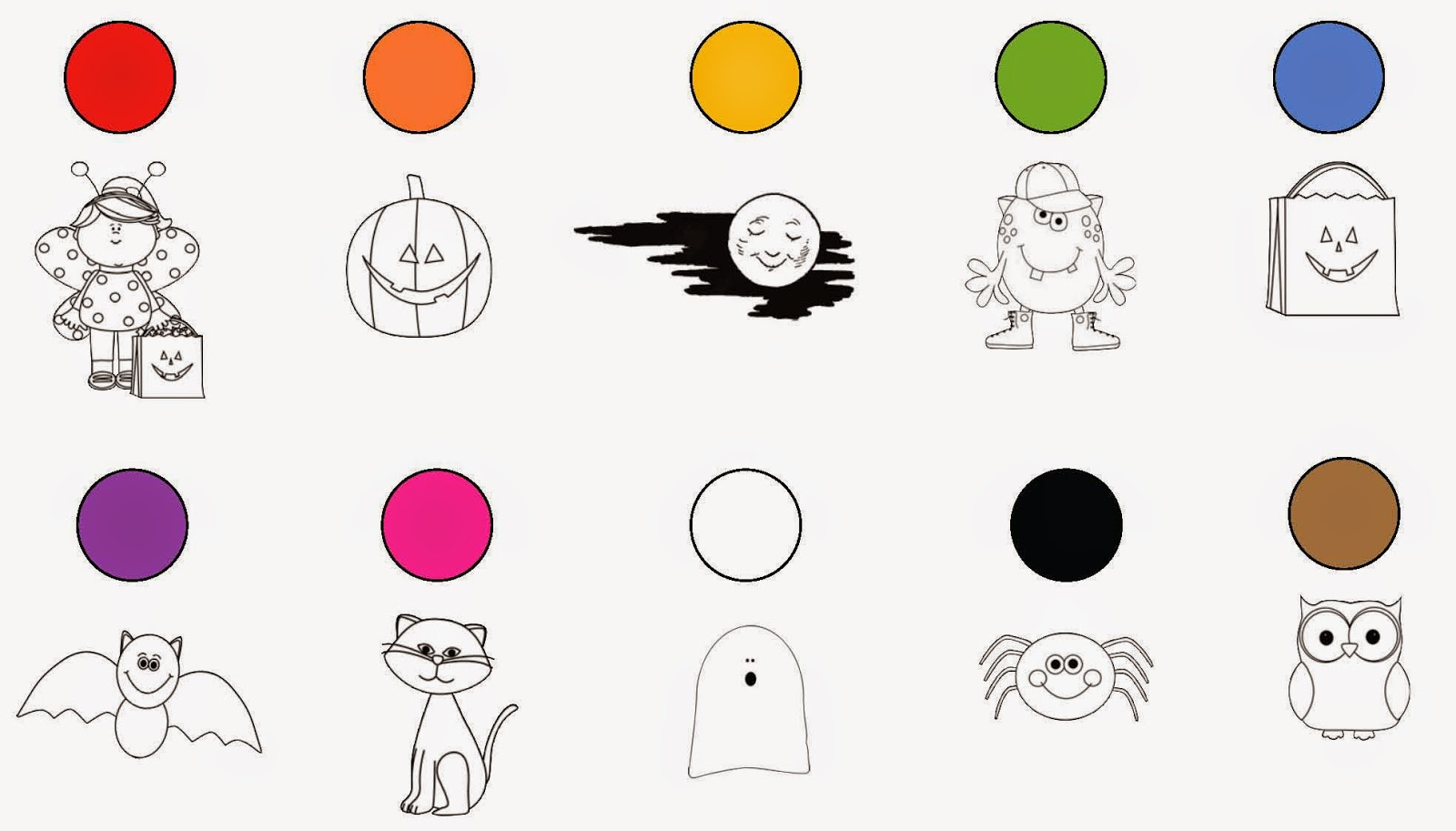 Classroom Freebies Common Core Halloween Colors Activity