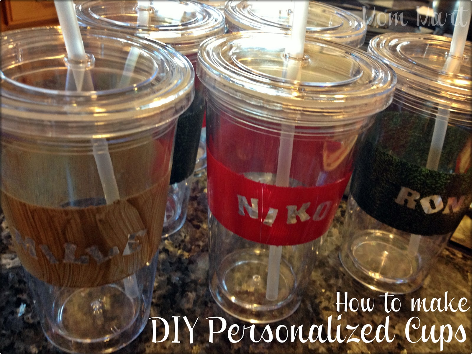 mom mart homemade gifts how to make diy personalized cups