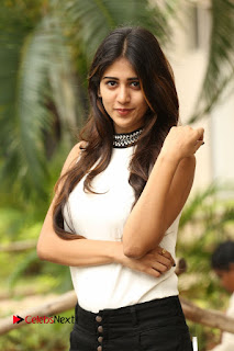 Actress Chandini Chowdary Pictures in Black Denim Jeans at Kundanapu Bomma Telugu Movie Press Meet  0056.JPG