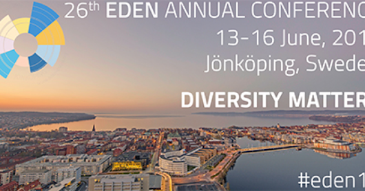 Brief summary of the EDEN2017 conference at Jönköping University, Sweden 13-16 June 2017