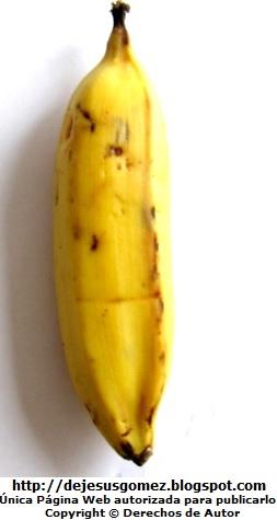 Foto del Plátano de la Isla maduro para comer